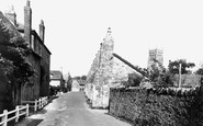 Bruton, The Abbey Wall And Old House, Kings School c.1960