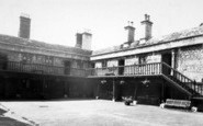 Bruton, The Courtyard Sexey's Hospital c.1960