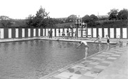 Brynamman, the Swimming Pool c1955