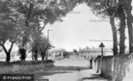 Brynford, Cross Road c.1955