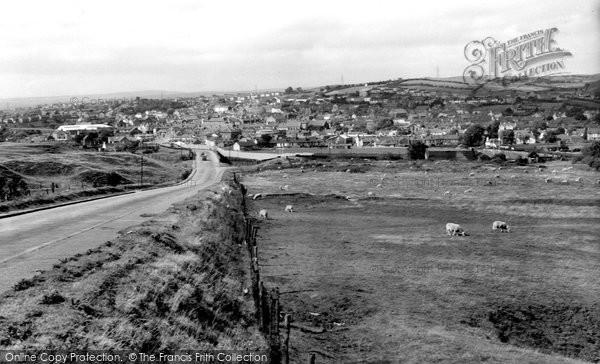 Brynmawr, From Blaenavon Road c.1960