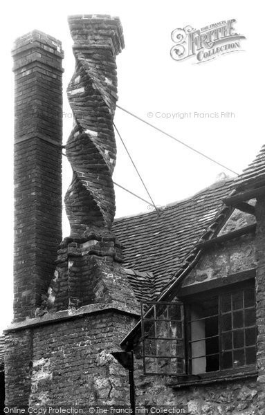 Buckingham, The Manor House, Twisted Chimney c.1955