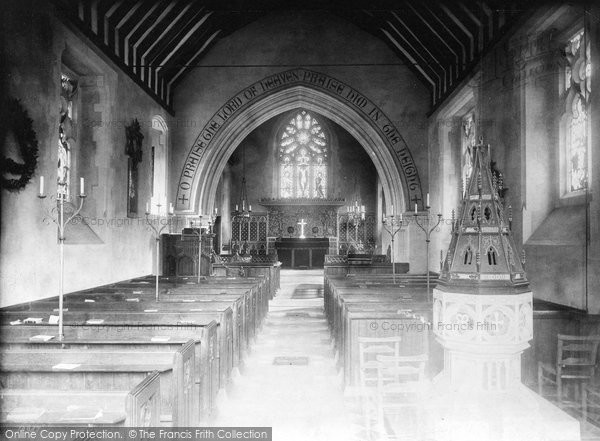 Buckland, Church Interior 1886