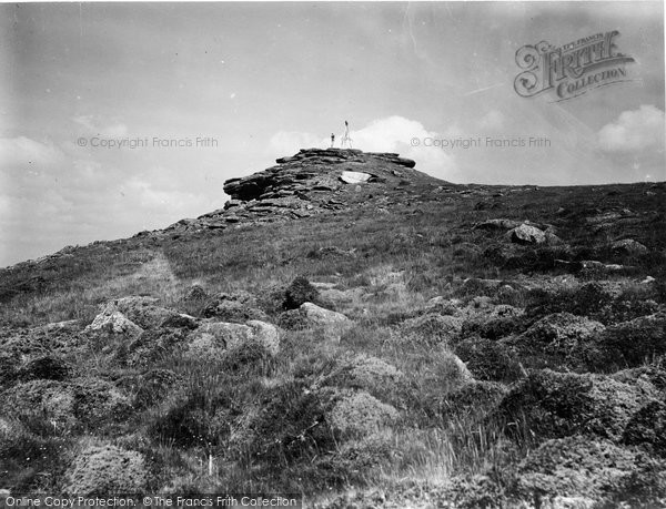 Buckland In The Moor, On Buckland Beacon 1931