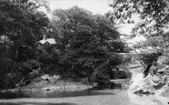 Buckland Monachorum, Denham Bridge And Cottage 1893