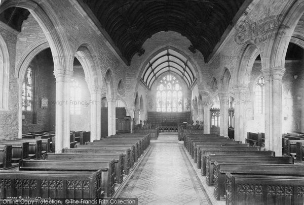 Buckland Monachorum, The Church Interior 1890