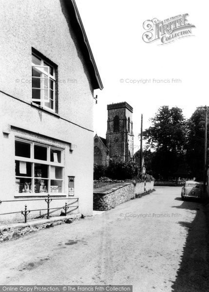 Buckland St Mary, The Post Office And Church c.1960