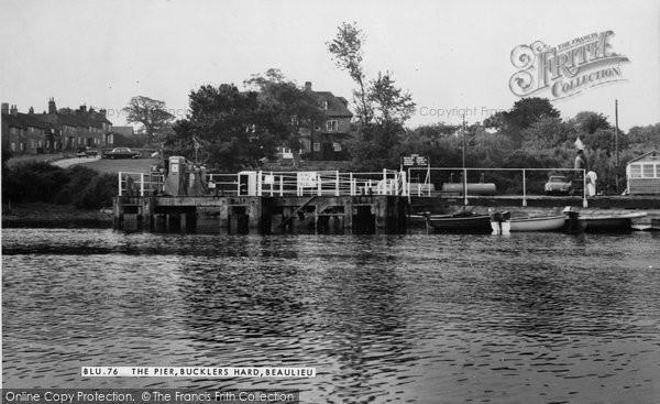 Bucklers Hard, The Pier c.1960