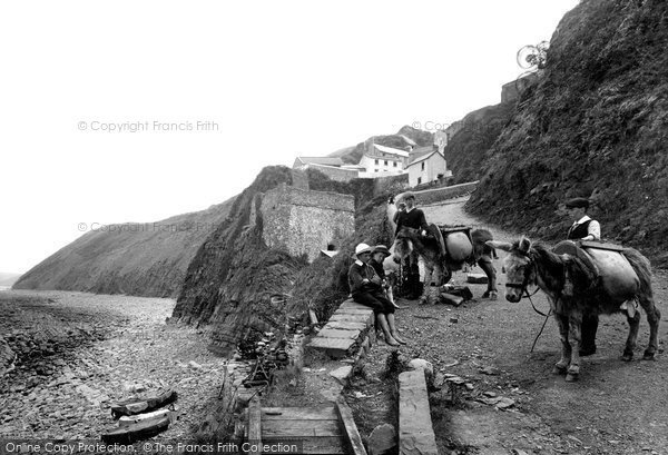 Bucks Mills, The Cliffs 1906