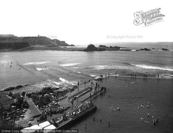 Bude, Bathing Pool And Breakwater 1937