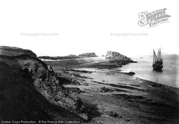 Bude, Breakwater And Coast 1890