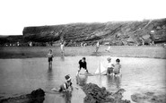 Bude, Children Playing On The Beach 1926