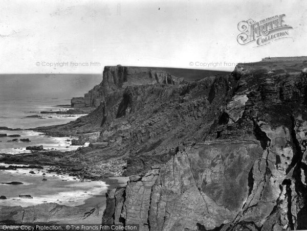 Bude, Cliffs From Summer House c.1871