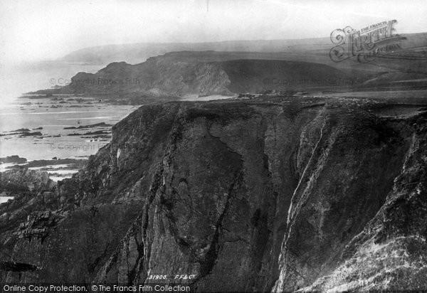 Bude, Coast View 1893