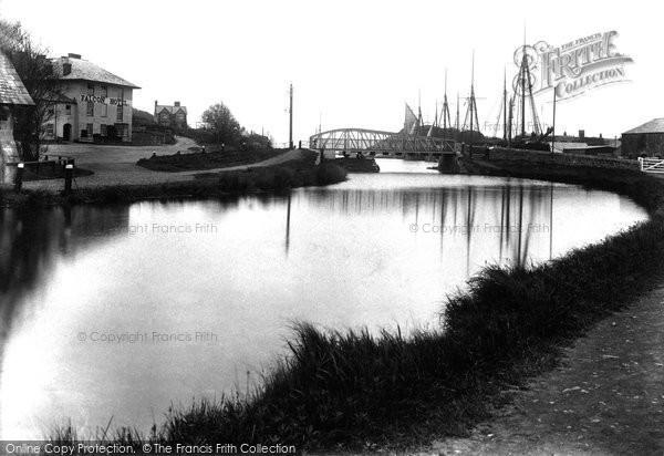 Bude, Falcon Hotel And Bridge 1910
