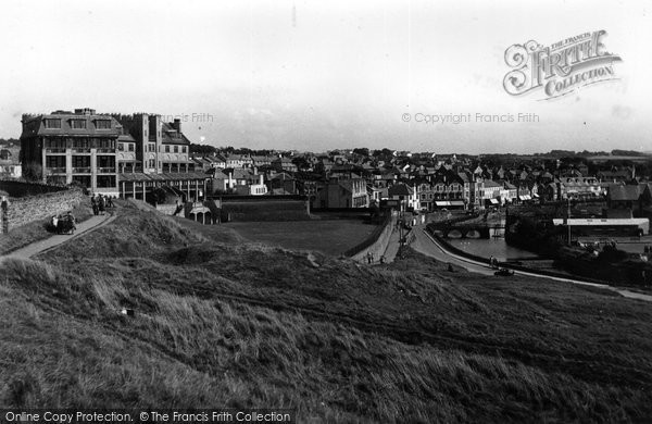 Bude, Grenville Hotel And Nanny Moore's Bridge 1949