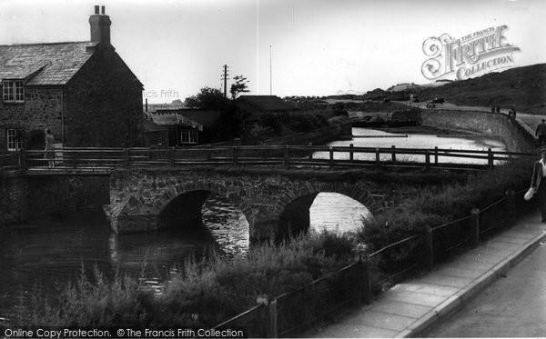 Bude, Nanny Moore's Bridge c.1955