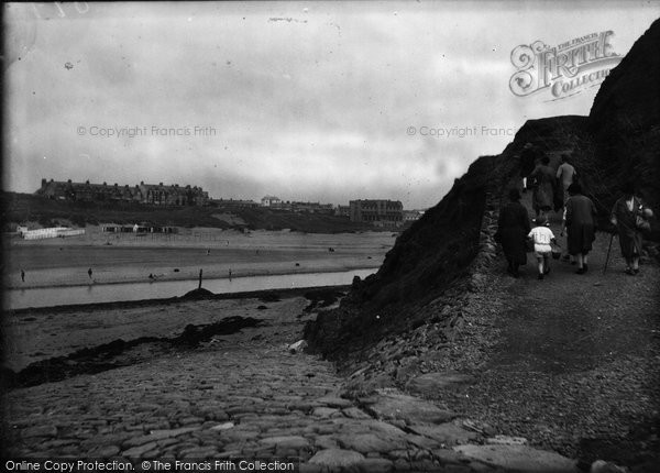 Bude, Path From The Breakwater 1928