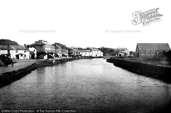 Bude, River Neet From Old Bridge 1890