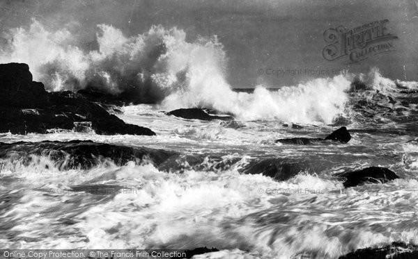 Bude, Rough Sea 1929