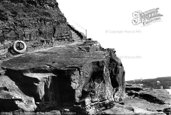 Bude, Summerleaze Cliffs Waydown 1893
