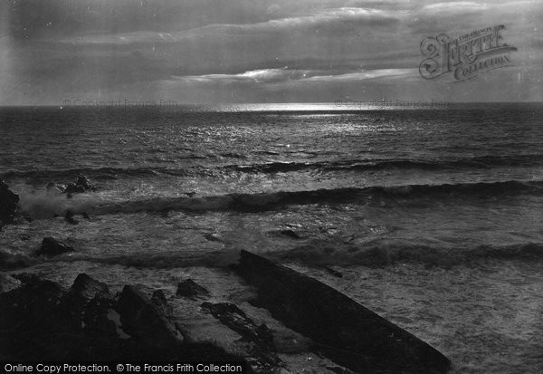 Bude, Sunset At Sea 1920