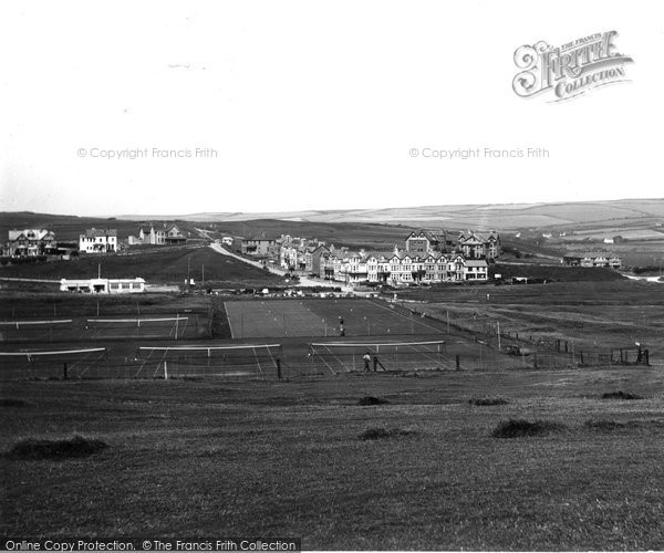 Bude, Tennis Courts And Crooklets 1936