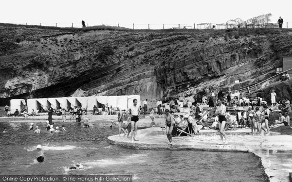 Bude, The Bathing Pool c.1960