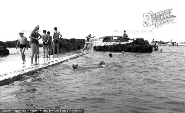Bude, The Bathing Pool c.1960