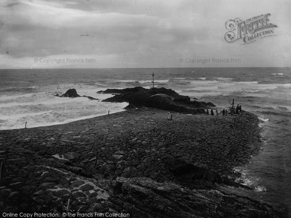 Bude, View From Efford Down 1920