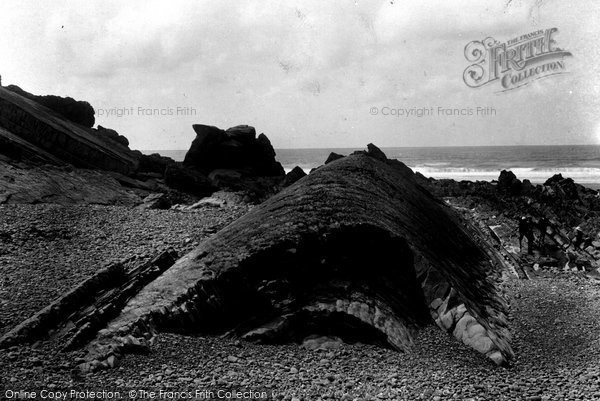 Bude, Whales Back And Saddle Rock 1900