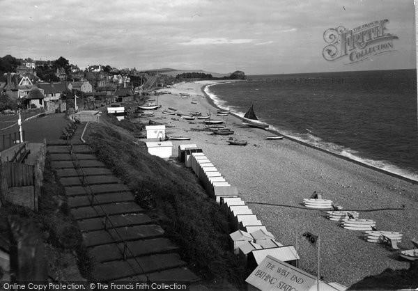 Budleigh Salterton, Bathing Beach c.1935