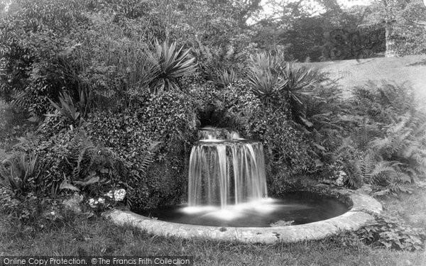 Budleigh Salterton, Bicton House Waterfall 1890