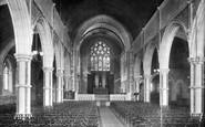 Budleigh Salterton, Church Interior 1901