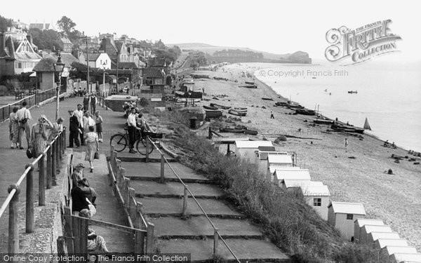 Budleigh Salterton, Cliff Walk c.1955