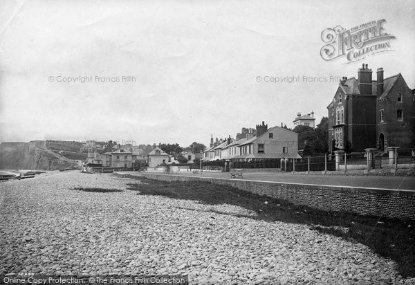 Budleigh Salterton, Esplanade From East 1890