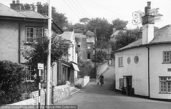 Budleigh Salterton, Fore Street Hill c.1955