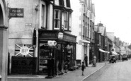 Budleigh Salterton, High Street Filling Station And Shop 1931