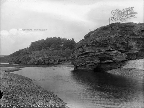 Budleigh Salterton, Mouth Of The Otter 1928