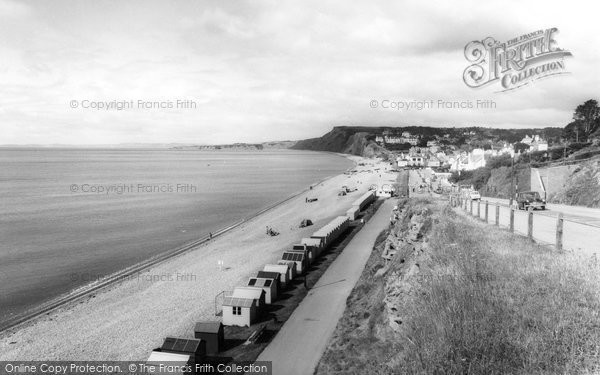 Budleigh Salterton, Seafront From East c.1960