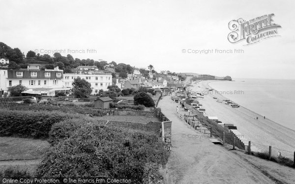 Budleigh Salterton, The Beach c.1960
