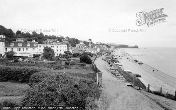Budleigh Salterton, The Beach c.1965