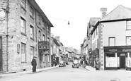 Builth Wells, Broad Street c.1955