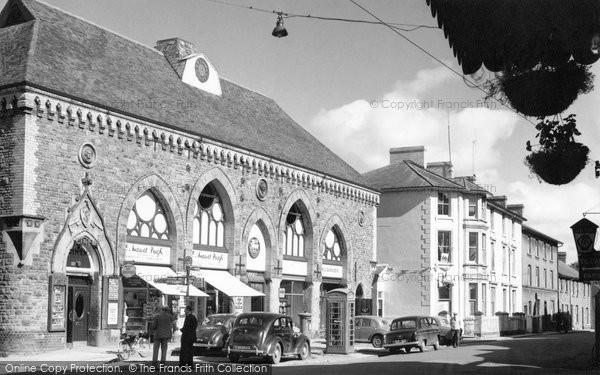 Builth Wells, Castle Street 1958