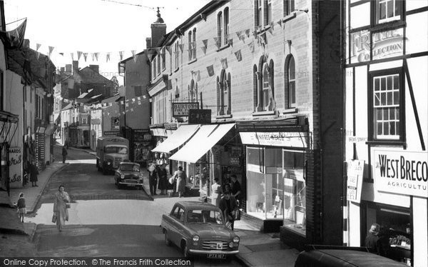Builth Wells, The High Street 1958