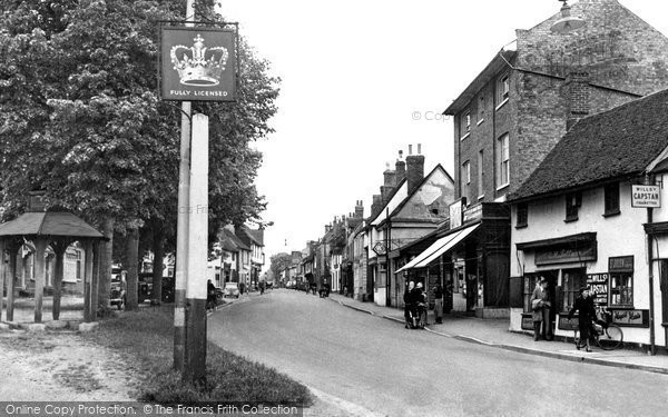 Buntingford, Market Hill c.1955