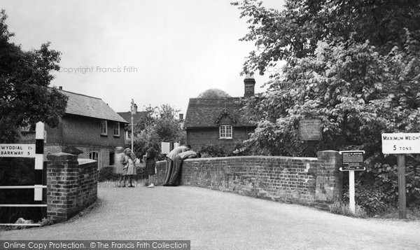 Buntingford, River Green Bridge c.1955