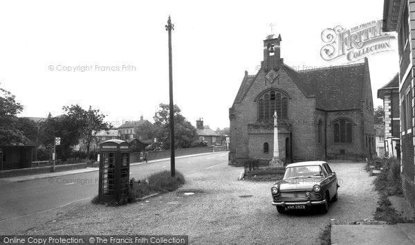 Buntingford, St Peter's Church And Memorial c.1965