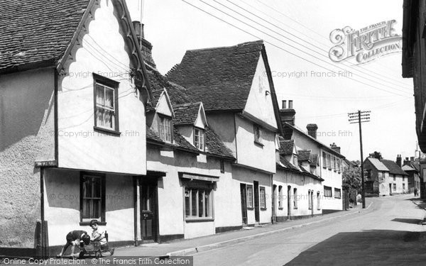 Bures, High Street c.1955