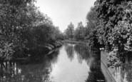 Bures, River Stour c.1955